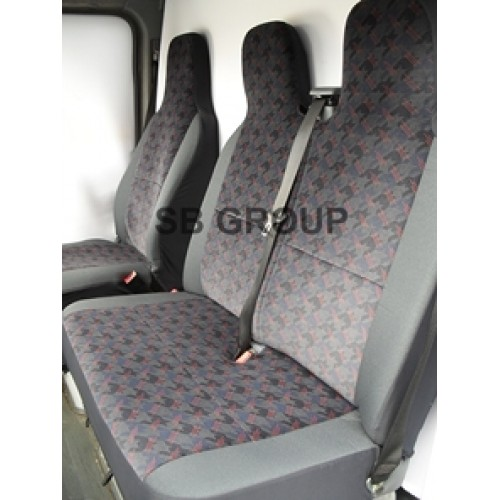 Toyota Hiace Van Seat Covers Brick Design In Cloth Fabric